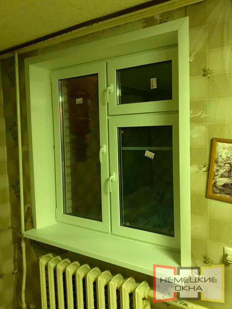 Новые пластиковые окна после остекления загородного дома